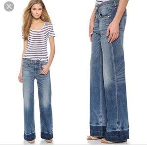 rag & bone loose fit wide leg jeans size 25 NWT